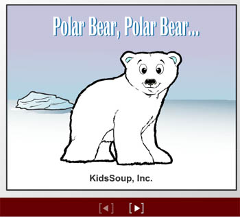 Polar bear rhyme and booklet for preschool and kindergarten