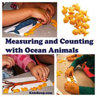 Ocean Animals Measuring Preschool Lesson and Activities