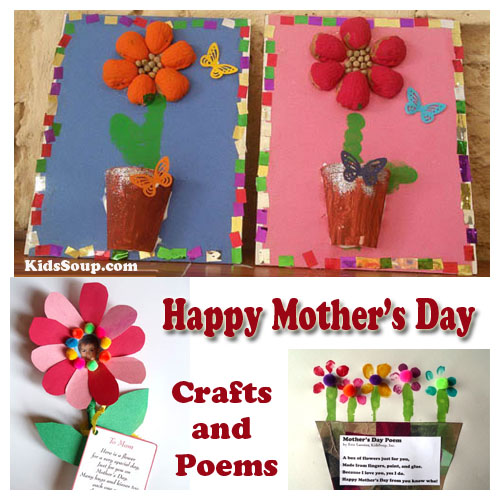 Mother 39 s day preschool crafts artworks and poems kidssoup for Mother s day projects for preschoolers