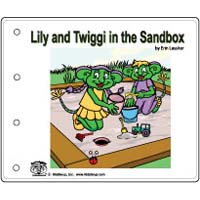 In the Sandbox emergent reader booklet for kindergarten