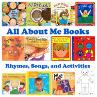 All about me books, songs, and rhymes for preschool and kindergarten