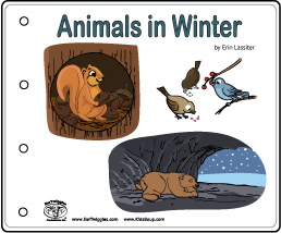Animals in winter emergent reader booklet and activity for kindergarten