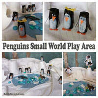 Penguin Small World Play Area for preschool