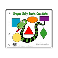 Sally Snake Can Make Shapes Emergent Reader and Activities