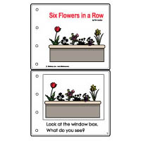 Six Flowers in a Row emergent reader booklet and activities for kindergarten