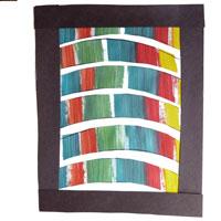 Scissors skills craft and activity rainbow artwork