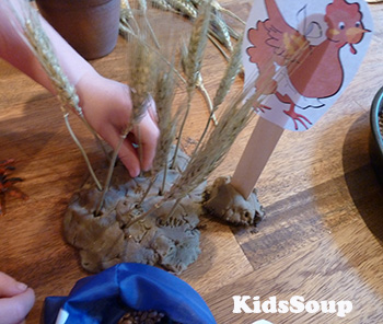 Little Red Hen small world play - fine motor skills