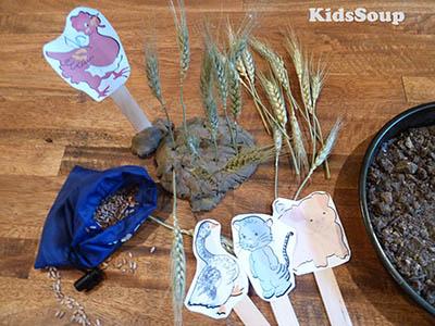 Little Red Hen story puppets and activities preschool and kindergarten