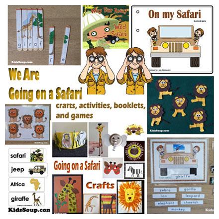 Safari Preschool Activities And Crafts Kidssoup