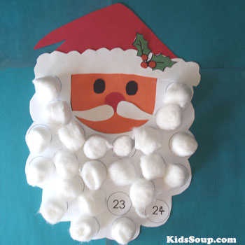 Santa Countdown to Christmas Craft and Activity for preschool