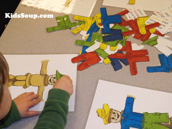 Follow Instructions scarecrow activity and game for preschool