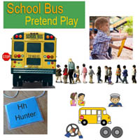 Preschool, Kindergarten School Bus Activities and Games