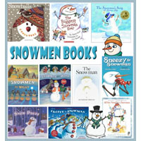 Snowmen books, rhymes, and songs for preschool and kindergarten
