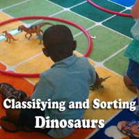 Dinosaurs Science Activity and Lesson for preschool