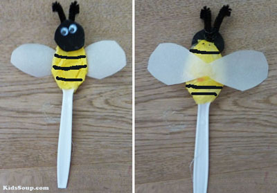 Bee puppet preschool craft, rhyme, and activity
