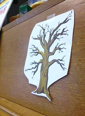 Fall tree and leaves preschool lesson