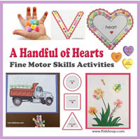 Hearts fine motor activities and printables for preschool