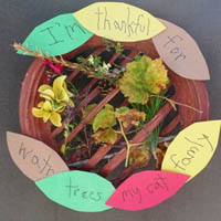 Preschool Kindergarten I'm thankful for Earth Day Craft and Activity