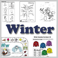 Preschool and Kindergarten Winter Activities and Crafts