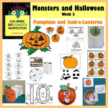 Jack-o-lantern Halloween preschool and kindergarten activities