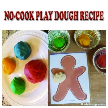 no-cook play dough recipe and activities for preschool children