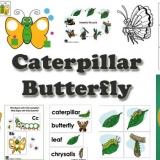 Butterfly and Caterpillar activities and games for preschool and kindergarten
