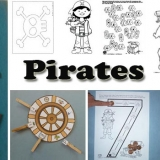 Pirates activities, crafts, games, printables for preschool and kinder