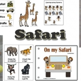 Safari animals preschool and kindergarten activities and crafts