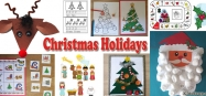 Christmas Holidays activities and lessons for preschool and kindergarten