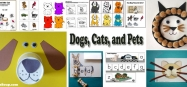Dogs, Cats, and Pets Activities for Preschool