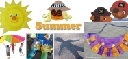 Summer preschool and kindergarten activities, games, and crafts
