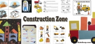 Trucks and Construction activities, crafts, games for preschool and kindergarten