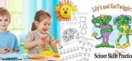 preschool scissor skills activities and worksheets